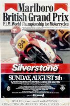 "BRITISH MOTORCYCLE GP 1984 Silverstone Poster 30 x 20"" ( 770 x 510mm)"